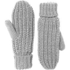 Monki Totty mittens ($6.65) ❤ liked on Polyvore featuring accessories, gloves, winterwear, grey, mittens, grey cloud melange, gray gloves, grey gloves, monki and mitten gloves