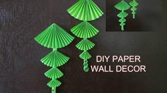 DIY PAPER WALL  HANGING  EASY.........