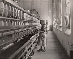 """""""Child in Carolina Cotton Mill."""" 1908 American photographer & sociologist, Lewis Hine, recorded children's working lives on behalf of the National Child Labor Committee. ~ A Design History of Childhood 