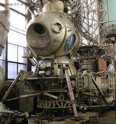 Looks steam punk but is actually the Soviet LK-1 1960 moon lander project.