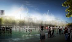 the new urban park will run along a diagonal axis through the heart of barcelona and will connect the sea, the city, and its natural surroundings together.