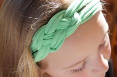 DIY Celtic Knot Headband. Upcycle an old t-shirt into a fashionable, homemade headband using nothing but hot glue!