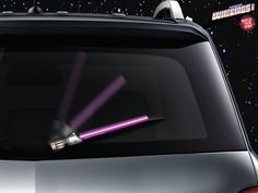 When the clouds get as dark as Kylo Ren's cloak, you can battle the rain like a weather Jedi with the Star Wars Lightsaber Wiper Blade Covers.  Whether you embrace the Dark Side or the Light, you can battle the rain with a lightsaber cover that matches your style, with wiper covers that resemble L