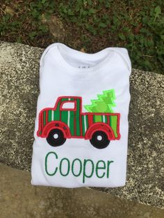 A personal favorite from my Etsy shop https://www.etsy.com/listing/255171541/christmas-truck-shirt