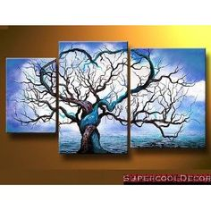 #2: Modern Oil Painting on Canvas Stretched Framed on Wooden Frame - Origin of Life