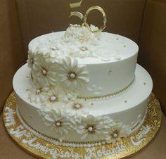Calumet Bakery 50th Wedding Anniversary /Gold Daisy
