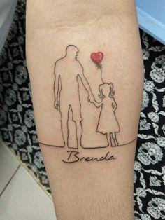 Family Tattoos For Men, Family Tattoo Designs, Unique Tattoo Designs, Tattoos For Guys, Tattoos For Women, Father Daughter Tattoos, Father Tattoos, Tattoos For Daughters, Mommy Tattoos