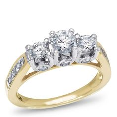Encore, 14K Two-Tone Diamond Engagement Ring, 2.00 ctw.