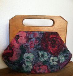 Printemps Parfait Handbag 1950's Floral Cloth Handbag by KORAFLORA