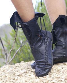 Leather Boots – Black Ankle Leather Boots For Women | Gipsy Dharma
