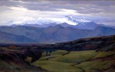 Wandering Above Silent Vertexes: TINDFJALLAJÖKULL PAINTED BY ASGRIMUR JONSSON