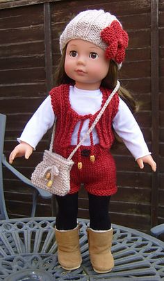 Upon revisiting this pattern, now that I have an AMG doll, I have adapted it slightly for a better fit plus I have added a summer top which is all in one and buttons all the way down the back ,there is also the addition of a sun visor to complete the summer look.
