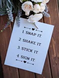PRINTABLE SIGNS Guest Book Sign Polaroid Snap it by thepaperstash #polaroid #snap #it #wedding #guest #book #guestbook #picture #photo #printables #printable #weddings #decor #sign #print #diy #digital #shake #stick #signs #decoration #photobook #table #weddings