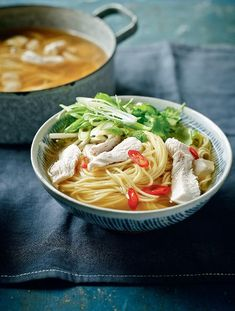 Fragrant Turkey Noodle Broth - The Happy Foodie