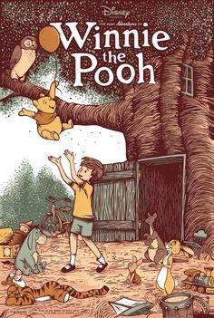 Vintage Disney Posters, Disney Movie Posters, Cartoon Posters, Vintage Cartoon, Cartoons, Winnie The Pooh Drawing, Winnie The Pooh Quotes, Winnie The Pooh Friends, Disney Winnie The Pooh