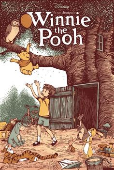 Winnie The Pooh Cartoon, Winnie The Pooh Drawing, Winnie The Pooh Quotes, Winnie The Pooh Friends, Vintage Disney Posters, Disney Movie Posters, Cartoon Posters, Vintage Cartoon, Cartoons