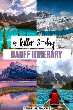 Heading to Banff, Canada and want some great advice from a local for planning your itinerary? Here's a detailed Banff itinerary for 3 days, taking in some of the best that Canada's first national park has to offer! things to do in Banff Alberta Travel, Banff Alberta, Banff Bc, Alberta Canada, Banff National Park, National Parks, Quebec, Vancouver, Toronto