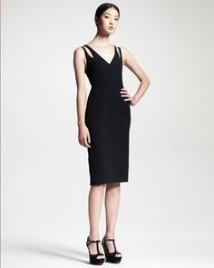Contour Wrap-Back Dress by Alexander Wang at Bergdorf Goodman. Front ok but the back is striking.