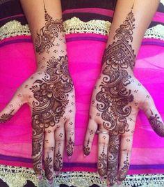 Elegant and ornate henna tattoo design