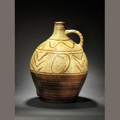Michael Cardew (British, 1901-1983)  A Winchcombe Pottery cider flagon, circa 1935  impressed Winchcombe Pottery seal