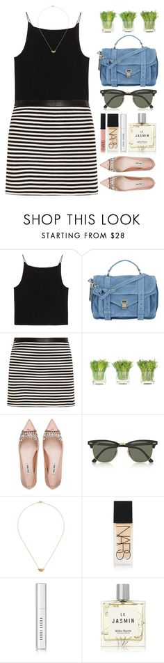 """""""sorry"""" by laughtersassassin ❤ liked on Polyvore featuring T By Alexander Wang, Proenza Schouler, NDI, Miu Miu, Ray-Ban, IaM by Ileana Makri, NARS Cosmetics, Bobbi Brown Cosmetics and Miller Harris"""