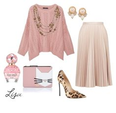 """Pink Lush"" by coolmommy44 ❤ liked on Polyvore featuring MANGO, Topshop, Casadei, Chanel, Marc Jacobs, Karl Lagerfeld, Carolee, leopard and pastels"