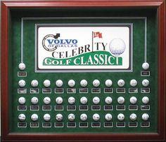 Celebrity Golf Classic 35 ball #shadowbox #golf #gift