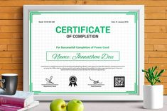 Certificate Of Appreciation, Certificate Of Achievement, School Certificate, Business Brochure, Business Card Logo, Stationery Templates, Design Templates, 100 Free Fonts, Certificate Design Template