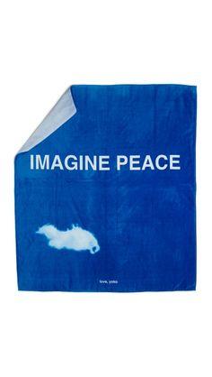 "WOW! Yoko Ono Double Beach oversized Towel   60"" x 70"""