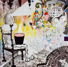Trenton Doyle Hancock - Hancock's prints, drawings, and collaged felt paintings work together to tell the story of the Mounds—a group of mythical creatures that are the tragic pr. Trenton Doyle Hancock, Neo Dada, Bright Art, The Uncanny, Glitch Art, Mixed Media Canvas, Heart Art, Painting & Drawing, Painting Prints