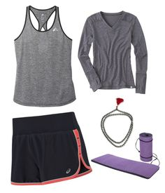 """yoga on spring"" by dixielarouge on Polyvore featuring Asics, adidas, Title Nine and NOVICA"