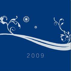"""Cartes de voeux - modèle """"Mercure"""" 2009 (argent à chaud, papier couleur) © COPY-TOP"""