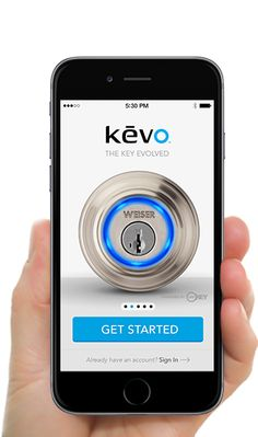 Kevo   Electronic Bluetooth Lock - Weiser Kevo Smart Lock