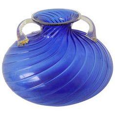 Glass Vase from Archimede Seguso, Murano Italy
