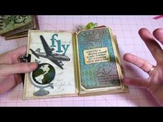 ▶ Vertical paper bag mini; Tim Holtz style - YouTube