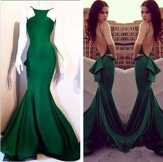 Green Prom Dress, Long Prom Dress, Inexpensive Prom Dress, Prom Dress, High Quality Prom Dress, Handmade Prom Dress,Mermaid Prom Dress,Cheap Prom Dress,Satin Prom Dress,Prom Dress 2015 HG201
