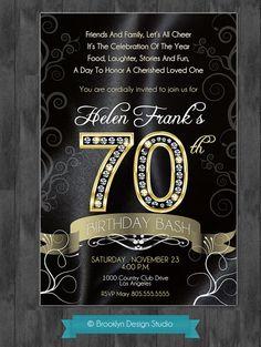 70th Birthday Bash  Custom Designed by BrooklynDesignStudio, $15.00