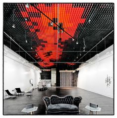 Great acoustic ceiling in Sonos studio by RA-DA. (LA, California)