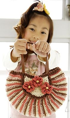 Petite Outing Bag By Nobuko Tada - Free Crochet Pattern - Crochet Diagram Also Included - See http://gosyo.co.jp/english/pattern/eHTML/ePDF/1007/4w/27-28-780HB_Petite_Outing_Bag.pdf For PDF Pattern - (ravelry)