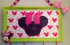 Minnie Mouse Bow photo jewelry holder by CreativeDesignsUpcyc, $35.00 #EtsyAAA