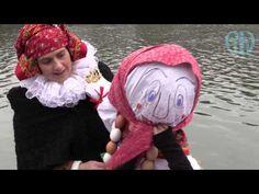 Vítání jara v Přerově - vynášení smrtky (moreny) - YouTube