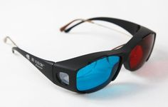 3D Glasses Direct-3D Glasses - Nvidia 3D Vision Ultimate Anaglyph 3D Glasses - Made To Fit Over Pres