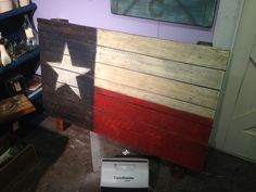 Texas flag made from fence pickets