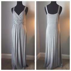 """Spense heather grey maxi Spense. Size S. Maxi full length. Heather grey soft viscose fabric. Unlined. Pull over style. Drapes beautifully. Worn once to a spring wedding. Approx 51-52"""" in length. Spense Dresses Maxi"""
