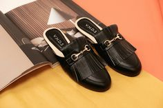 Black Slippers shoes by V.N.D.S  #sandal #womenfashion #fashion #shoes
