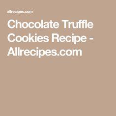 Chocolate Truffle Cookies Recipe - Allrecipes.com