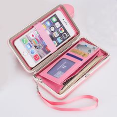 New Multifunction Girls Wallets 2016 Ladies Korean Lovely Long Candy colors Solid Phone Clutch Bags Wallet Purses For Girl Gift