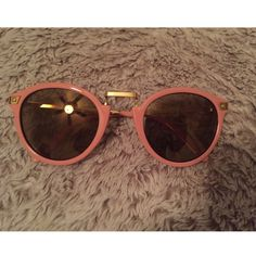 Vintage Sunglasses Pink old style sunglasses... Super cute  any questions feel free to ask  Accessories Glasses