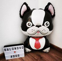 Foil balloon - Bulldog (black)