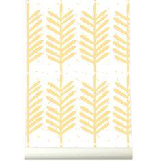 Aan de wand-roomblush behangpapier feathers-feathers yellow-Roomblush-9781-Ontdek hier de SWEET! wallpaper collectie van het Belgische Roomblush. Een speelse collectie, een eyecatcher op je muur. Voor in de kinder, speel, sla